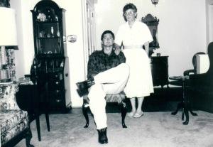 Kent & mom (BW)